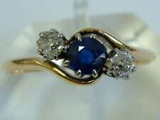 Sapphire Yellow Gold Ring Art Deco Fine Jewellery