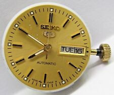 Vintage Lds Seiko Auto Day/Date 2nd Hand Yellow Gold Colored Dial Movement