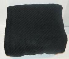 RALPH LAUREN Regent Diagonal Black KING BLANKET New Mercerized Cotton