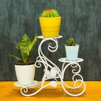 Metal Shelf Flower Pot Plant Stand Rack Holder  Indoor Outdoor Decor BU