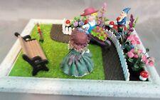 Dollhouse Miniature Flower Garden Roombox Scenario