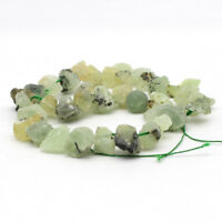 "15"" Natural prehnite Stone Freeform Beads 8-14mm Side Drilled Jewelry DIY"