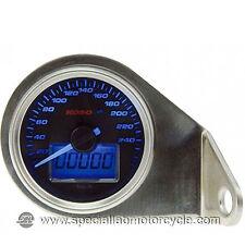 Tachimetro Elettronico Koso Classic Luce Blu 260Km/h Cafè Racer