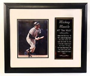 Mickey Mantle Signed Framed 1974 The Mick NY Yankees Baseball # 7 500 HR Club