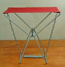 Vintage Old Pal Fishing Camping Folding Stool Seat Chair Canvas Steel Lititz PA