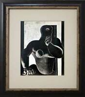 "Le CORBUSIER Lithograph Limited Edition ""Figure"" w/Custom FRAME"