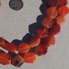 strand of diamond shaped tabular ancient agate carnelian stone beads mali #4075