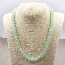 10mm Light Green 100% Natural A JADE JADEITE Round Beads Necklace 18'' AAA+