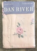 Vintage Dan River Pair Standard No Iron Percale Pillowcases Floral New Old Stock