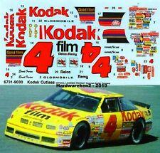 NASCAR DECAL # 4 KODAK 1990 OLDSMOBILE ERNIE IRVAN - 1/25