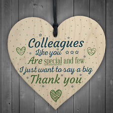 Special And Few Colleagues Heart Plaque Sign Friendship Thank You Office Gift