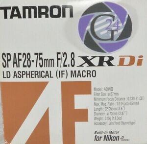 Tamron SP AF 28-75mm F/2.8 XR Di Macro A09NII für Nikon - Gewährleistung
