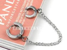 1pc Fashion Piercing Double Ear Cuff Ring Chain Earring Stud Cool Goth Punk Gift