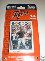 3 PACKS TOPPS TEAM SET CARDS DETROIT TIGERS 2008 14 CARDS EACH PACK 42 CARDS TOT