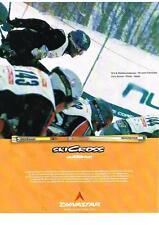 PUBLICITE ADVERTISING 2001 DYNASTAR  SKI CROSS  eric thomas ANDERSON