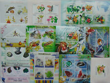 MINERALS Geology and PLANTS flowers 100 diff sheets MNH Sale Lot FREE SHIP #SL22