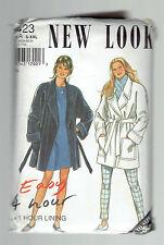 NEW LOOK pattern 6423 lined swing coat Sz 10 12 14 16 18 20  22 24 unused raglan