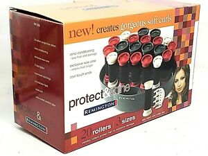 Remington Curl Envy HOT ROLLERS Velvety Hair Rollers Curlers Clips KF-20i NEW