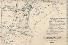 Farmington Unionville CT 1869 Maps with Homeowners Names Shown