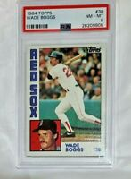 1984 Topps Wade Boggs HOF PSA 8 NM MINT #30 Red Sox Baseball Card A3044551-269