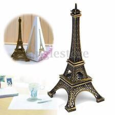 6'' Tone Paris Eiffel Tower Figurine Statue Vintage Alloy Model Home Decor