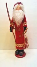 Folk Art Santa with Snow Shoes and Fishing Pole