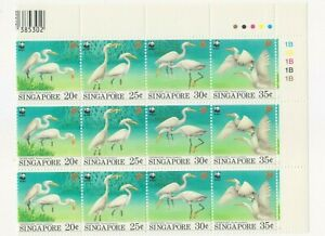 "SINGAPORE, 1985, ""WWF - BIRDS"" BLOCK OF 3 STAMP SET MINT NH FRESH GOOD CONDITION"