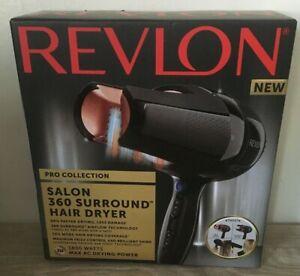 REVLON SALON 360 SURROUND HAIR DRYER RRP £119.99 BNIB GIFT PRESENT NEW 1800 WATT