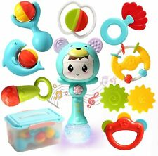 Baby Rattles Teethers Set Electronic Rattle Shaker with Light and Music Kids Toy
