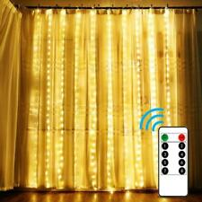 300LED Curtain String Fairy Lights Indoor Outdoor Wedding Christmas  Party Decor