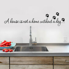 House Home Without A Dog Wall Quote Decal Sticker Inspiration Bedroom Decor LN8X
