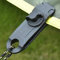 5/10X Wiederverwendbare Tent Tarp Persenning Clip Clamp Buckle Camping Werkzeug