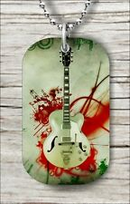 MUSIC GUITAR ELECTRIC INSTRUMENT #1 DOG TAG NECKLACE -plk9Z