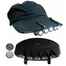 5 LED Light Under the Brim Cap Hat Headlamp Light for Hunting Fishing Hiking
