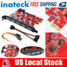Inateck PCI-E to USB 3.0 PCI Express Card 15-Pin Power Connector fr Windows XP