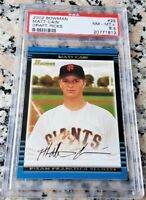 MATT CAIN 2002 Bowman #1 Draft Rookie Card RC PSA 8.5 Perfect Game WS Champs $$