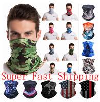 Face Mask Bandana Breathable Covering Neck Gaiter Balaclava Reusable Headband US