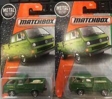 1/64 2 Matchbox volkswagen transporter VW Panel Bus 1 EMPTY BEDS, 1 WITH TOOLS G