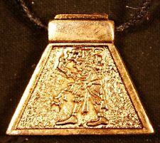 AZTEC ASTROLOGY pendant - QUIAUITL - The Rain (gold)