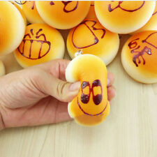 3x Squishy Super KAWAII Soft Buns Bread Charm Squishies Cell Phone Straps 4cmM&H