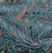 DESIGNERS GUILD Aurelie Louisette Turquoise Raised Velvet Remnant New