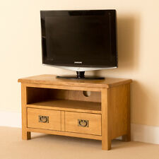 Lanner Oak Small TV Unit / Oak Multimedia Stand / Rustic Solid Wood Cabinet /New