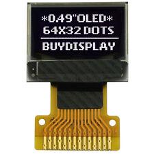 "0.49"" OLED Display Module 64x32 Pixel,SSD1306,SPI I2C,White on Black w/Tutorial"