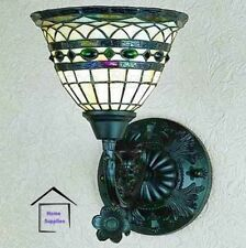 TIFFANY STYLE HANDCRAFTED GLASS UPLIGHTER / WALL LIGHT