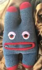 Plush Zip Pocket Mouth Stuffed Animal Toy Tooth Fairy Monster Stash Pillow