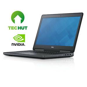 """Dell Precision 7520 15.6"""" CAD Laptop: i7 6th Gen 16GB RAM M1200M 512GB SSD Win10"""
