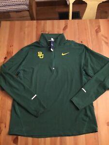 new Nike CJ0867-Baylor Bears PE track & Field 1/2 zip Pull Over Jacket mens XXL
