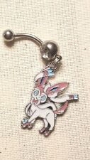 Sylveon Pokemon  Belly Ring Navel Ring 14G Surgical Steel Dangle