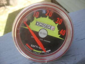 Vintage Bicycle SAFTI-GUIDE SEARS Speedometer Tachometer Odometer Collectible!