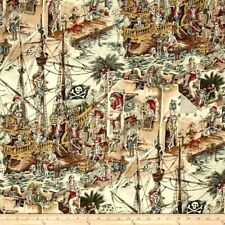 Alexander Henry SKELEWAGS Fat Quarter Cotton Craft Quilting Skeletons Pirates